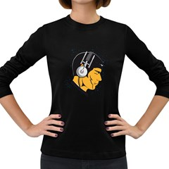 Space Beats Womens' Long Sleeve T Shirt (dark Colored) by kreadid