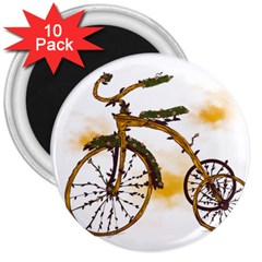 Tree Cycle 3  Button Magnet (10 Pack)