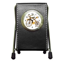 Tree Cycle Stationery Holder Clock by Contest1753604
