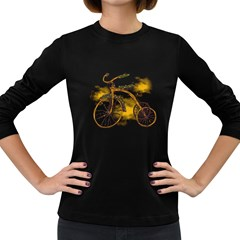 Tree Cycle Womens' Long Sleeve T Shirt (dark Colored)