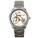 Tree Cycle Sport Metal Watch Front