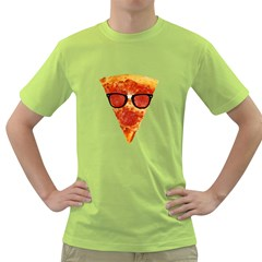 Geeks Pizza Mens  T Shirt (green)