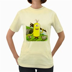 Polytimus  Womens  T Shirt (yellow) by Contest1732250