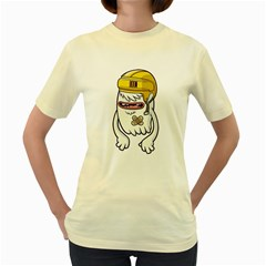 Ghost  Womens  T-shirt (Yellow) by Contest1741741