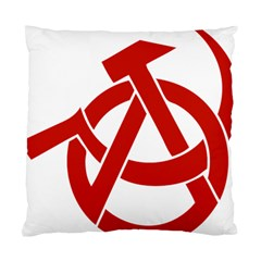 Hammer Sickle Anarchy Cushion Case (two Sided)  by youshidesign