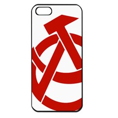 Hammer Sickle Anarchy Apple Iphone 5 Seamless Case (black) by youshidesign