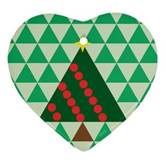 Holiday Triangles Heart Ornament by ContestDesigns