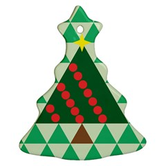 Holiday Triangles Christmas Tree Ornament by ContestDesigns
