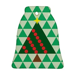 Holiday Triangles Bell Ornament (Two Sides) by ContestDesigns