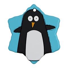 Hello Penguin Snowflake Ornament (two Sides)
