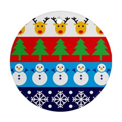Winter Christmas Round Ornament by Contest1732468