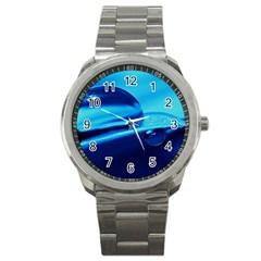 Waterdrops Sport Metal Watch