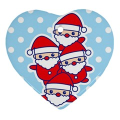 Santa s Heart Ornament by Contest1762364