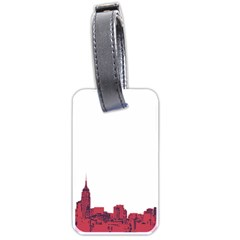 Skyline Luggage Tag (one Side) by PaolAllen