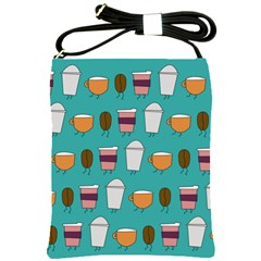 Time For Coffee Shoulder Sling Bag by PaolAllen