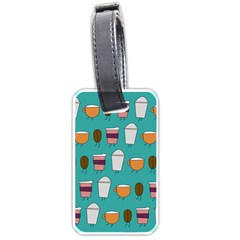 Time For Coffee Luggage Tag (one Side) by PaolAllen