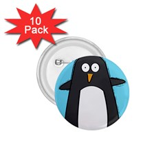 Hello Penguin 1.75  Button (10 pack) by PaolAllen
