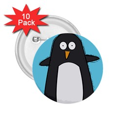 Hello Penguin 2.25  Button (10 pack) by PaolAllen