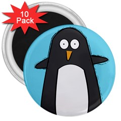 Hello Penguin 3  Button Magnet (10 Pack) by PaolAllen
