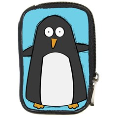 Hello Penguin Compact Camera Leather Case by PaolAllen