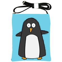 Hello Penguin Shoulder Sling Bag by PaolAllen