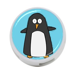 Hello Penguin 4 Port Usb Hub (one Side) by PaolAllen