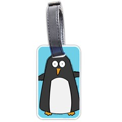 Hello Penguin Luggage Tag (one Side) by PaolAllen