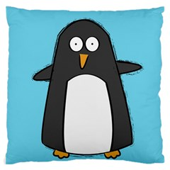 Hello Penguin Large Cushion Case (single Sided)  by PaolAllen