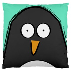 Penguin Close Up Large Cushion Case (two Sided)  by PaolAllen