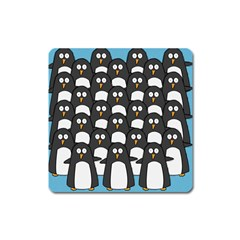Penguin Group Magnet (square) by PaolAllen