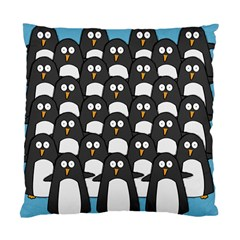 Penguin Group Cushion Case (two Sided)  by PaolAllen