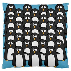 Penguin Group Large Cushion Case (two Sided)  by PaolAllen