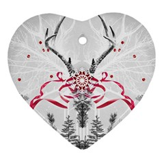 Christmas Collage Heart Ornament by Contest1764179