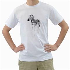 Zebra Mens  T Shirt (white)