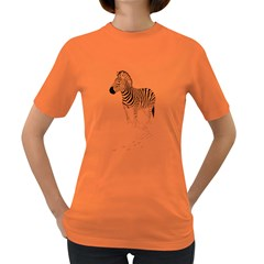 Zebra Womens' T Shirt (colored)