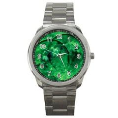Green Bubbles Sport Metal Watch