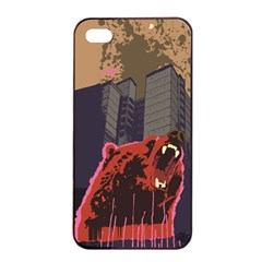 Urban Bear Apple Iphone 4/4s Seamless Case (black) by Contest1738792