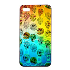 Sugary Skulls Apple Iphone 4/4s Seamless Case (black) by TheTalkingDead