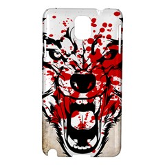 Blood Wolf Samsung Galaxy Note 3 N9005 Hardshell Case by Contest1775858