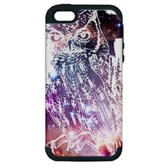 Cosmic Owl Apple Iphone 5 Hardshell Case (pc+silicone) by Contest1775858