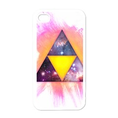 Cosmic Triple Triangles Apple Iphone 4 Case (white) by Contest1775858