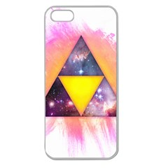 Cosmic Triple Triangles Apple Seamless Iphone 5 Case (clear) by Contest1775858