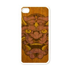 Demon Apple Iphone 4 Case (white) by Contest1775858