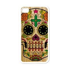 Sugar Skull Apple Iphone 4 Case (white) by Contest1775858