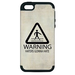 Warning: Haters Gonna Hate Apple Iphone 5 Hardshell Case (pc+silicone) by Contest1775858