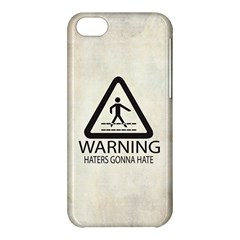 Warning: Haters Gonna Hate Apple Iphone 5c Hardshell Case by Contest1775858
