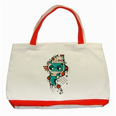 Muscle Cat Classic Tote Bag (red) by Randyotter