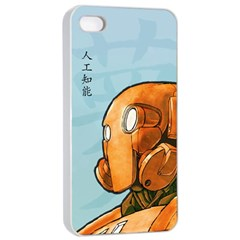Robot Dreamer Apple Iphone 4/4s Seamless Case (white) by Contest1780262