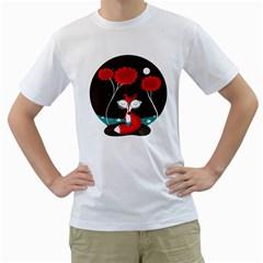 The Red Fox Mens  T Shirt (white)