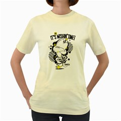 Wishin  time!  Womens  T-shirt (Yellow) by Contest1771648
